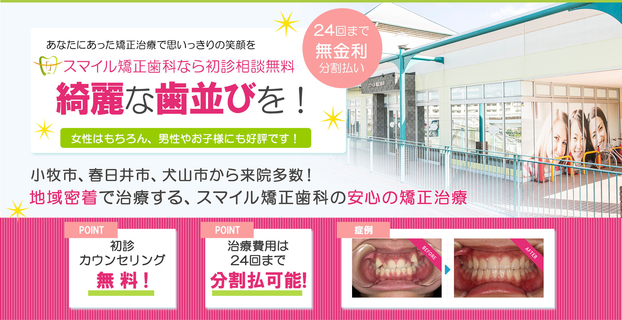 スマイル 矯正 歯科 行徳スマイル歯科|日曜日休日診療|市川市で評判な行徳駅前の歯医者